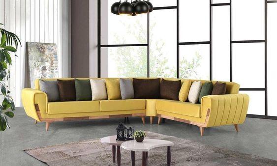 Violet Bed Modern Corner Sofa Set In 2020 Corner Sofa Set Modern Sofa Designs Sofa