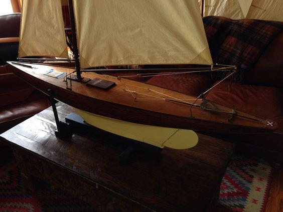"Full keel, 88"" lOA, nice original hardware , faux planked deck : X, Christibys"