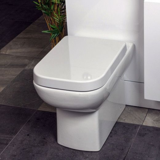 Easy Bathrooms Alfrick Comfort Height Back To Wall Toilet Soft Close Seat Back To Wall Toilets Simple Bathroom Wall Hung Toilet