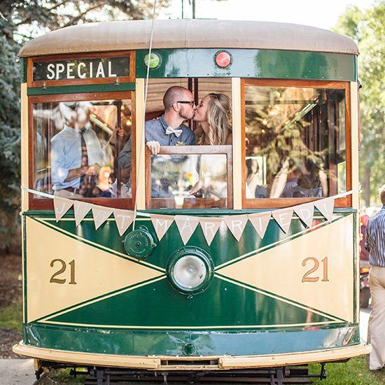 This Old Town Fort Collins Wedding Features Vintage Details A Bike Parade Trolley And Some Of The Best Dancing