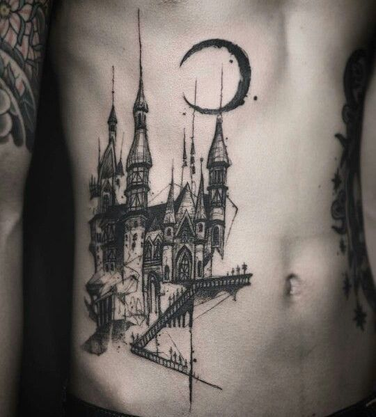 Castle Tattoo Idea Hogwarts Tattoo Harry Potter Tattoos Tattoos For Guys