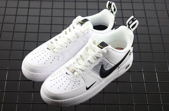 Nike Air Force 1 07 Lv8 Overbranding Utility White Black Aj7747 100 In 2020 Nike Air Force Nike Air Force Ones Nike Air