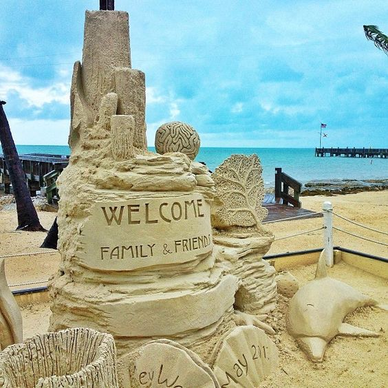 Sand sculptures at the beach in Key West :) #GHCBeachDays: