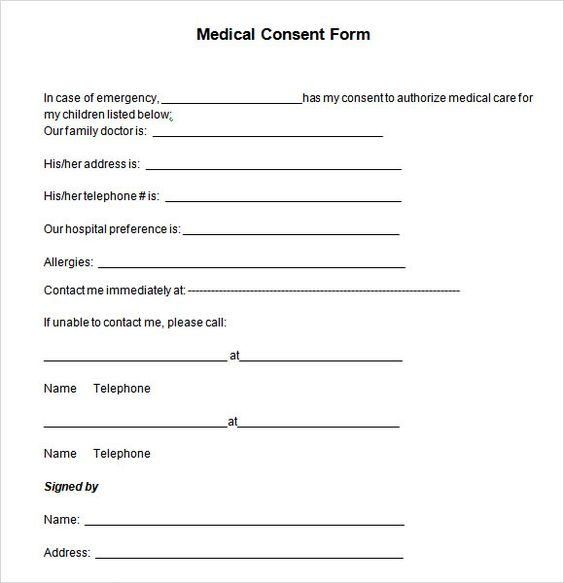 medical consent letter for grandparentsild minor treatment sample - sample medical authorization letter