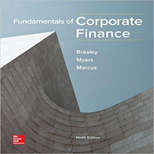 Fundamentals of Corporate Finance 9th Edition Brealey Myers