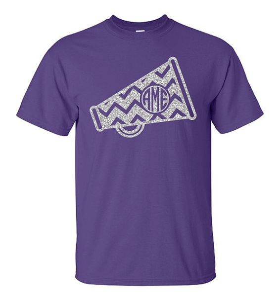 Chevron monogram cheer megaphone shirt megaphone Cheerleading t shirt designs