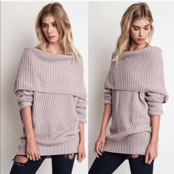 🆕SYDNEY knit off shoulder sweater top - MUAVE Boutique | Sleeve ...