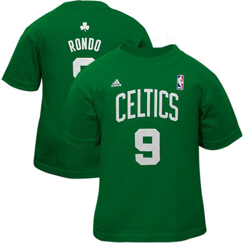 adidas Rajon Rondo Boston Celtics #9 Toddler Player T-Shirt - Kelly Green