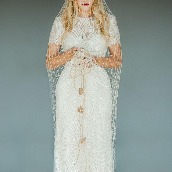 A new twist on a wedding veil
