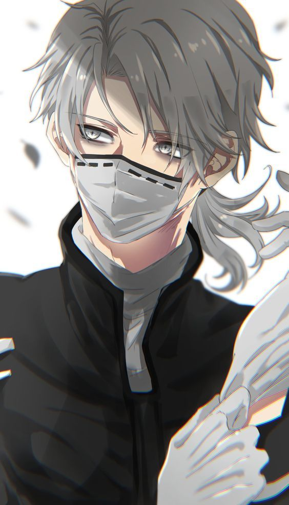 Animeboy Whitehair Mask Whiteeyes Identity Art Identity Anime Guys