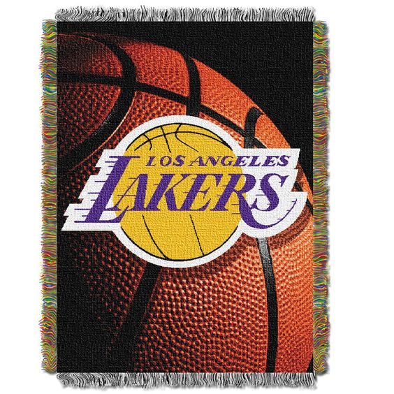 THE NORTHWEST COMPANY Los Angeles Lakers Commemorative Woven Tapestry Throw