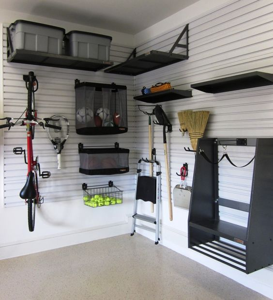 http www.askthebuilder.com how-to-garage-shelving-ideas - Small Garage Storage Ideas Finished With Black Furntiure