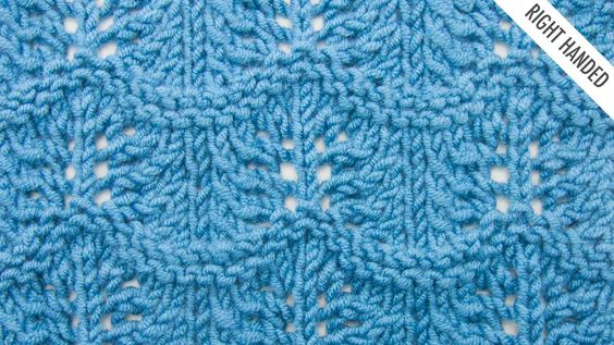 The Crest of the Wave Lace Stitch :: Knitting Stitch #527 :: Right Handed