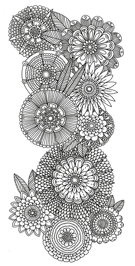 detailed flower coloring pages wwwimgkidcom the