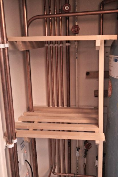 Click here to find out the easiest way to build slatted shelves in your airing cupboard. The first thing to do when making a slatted shelf, is..