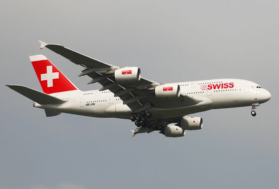 Swiss International Airlines Airbus A380-800.
