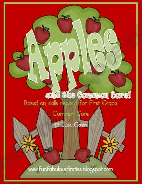 Apples and the Common Core free printables