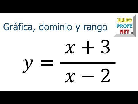 Grafica Dominio Y Rango De Una Funcion Racional Youtube