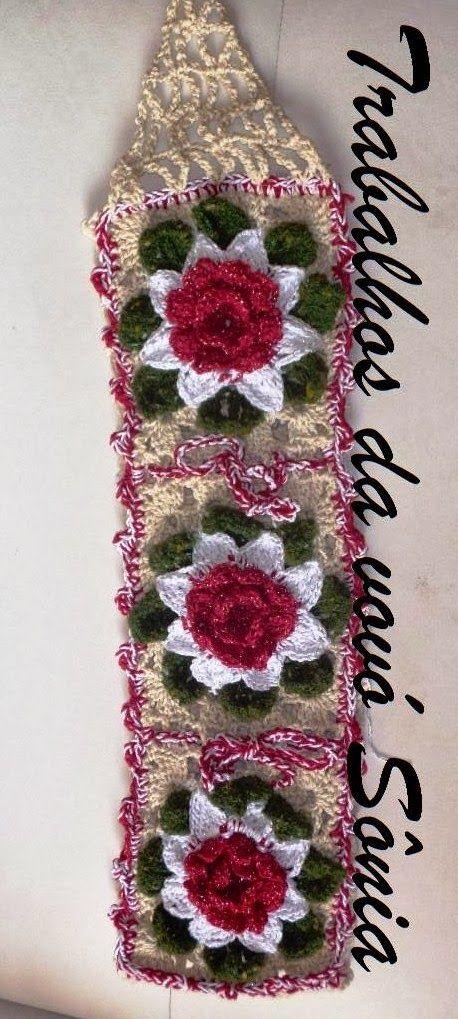 Work of Sonia Grandma: toilet paper holder flowers Soraia - crochet