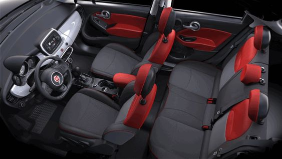 Fiat 500x interior red black car shopping pinterest for 500x interior