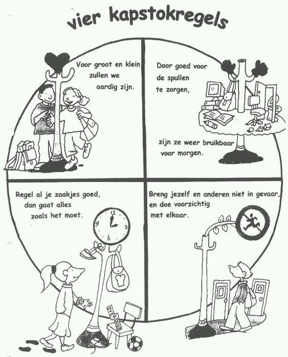 Regels en afspraken - De vier kapstokregels. Veel andere regels en afspraken vallen hier onder.