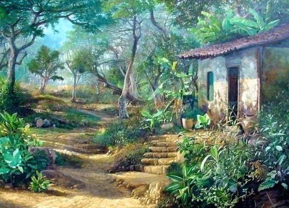 Im genes de pinturas cuadros de paisajes campestres - Cuadros de casas de campo ...