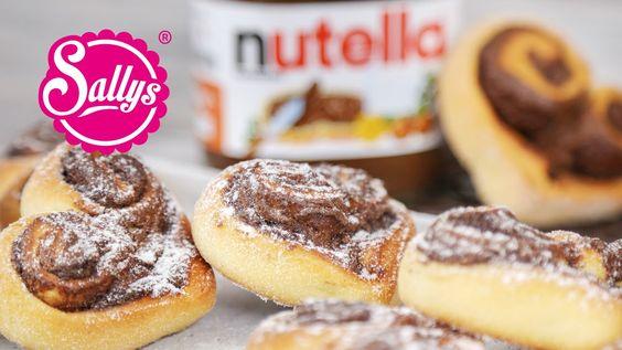 Nutella-Herzen / schnelles Rezept zum Valentinstag