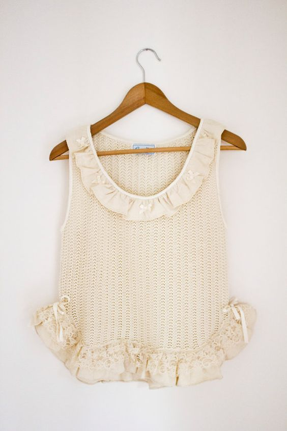 Marie Antoinette Top by thewildbunches on Etsy, $52.00