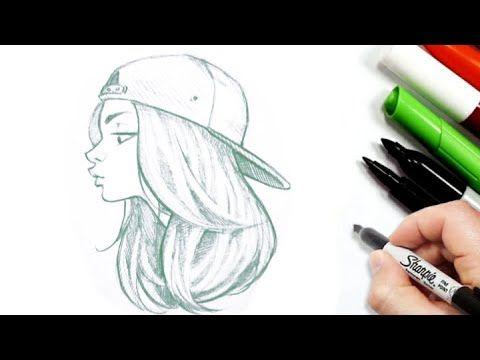 رسم سهل تعليم الرسم والتلوين Youtube Female Sketch Art Female