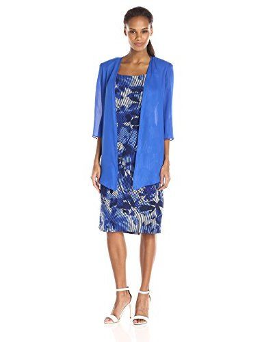 Maya Brooke Women's Stripe Floral Print and Soft Solid Duster Set | #WomensFashion #WomensDresses | #RUE31