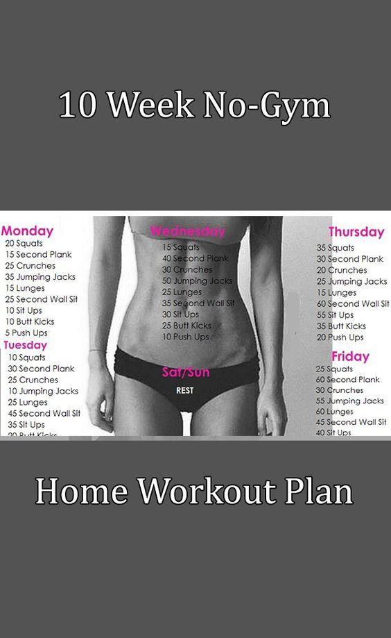 10 Week No-Gym Home Workout Plan: