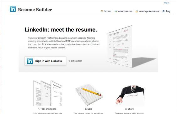 Linkedin Resume Builder -    wwwjobresumewebsite linkedin - resume builder sign in
