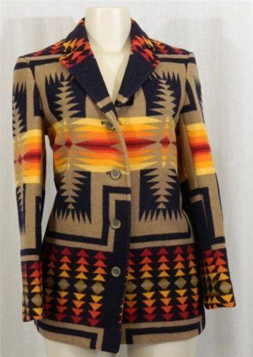 Usa Made Pendleton Navajo Southwest Wool Blanket Western