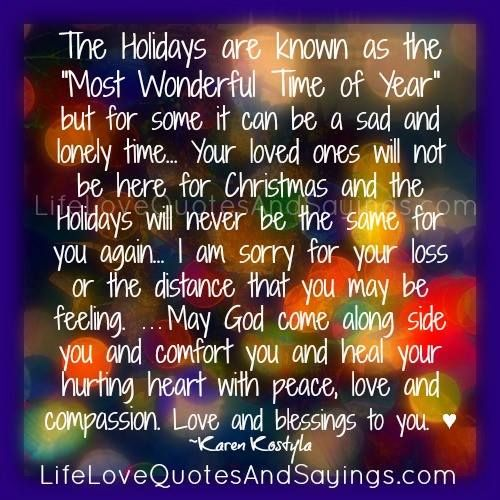 "Christmas Quotes Loss Loved One: The Holidays Are Known As The ""Most Wonderful Time Of Year"