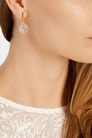 Monica VinaderDiva Lotus rose gold-plated, quartz and diamond earrings