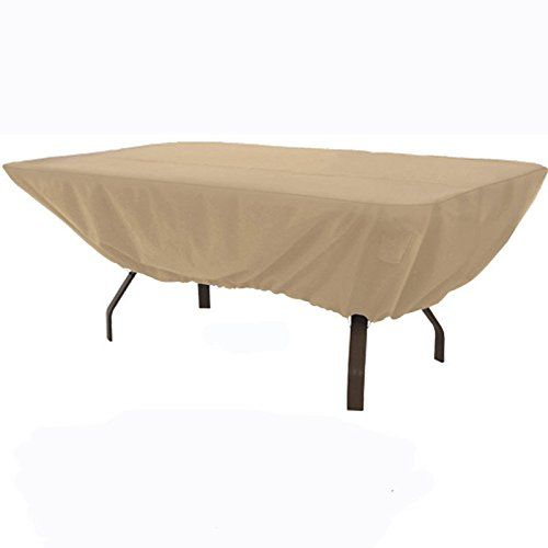 Outdoor Patio Furniture Table Cover Fits Rectangular Or Oval Tables To 74x46 Check This Awesome P Patio Furniture Covers Outdoor Furniture Covers Patio Table
