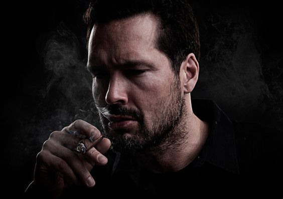 Cigar Smoking Hunks: bearded smokers