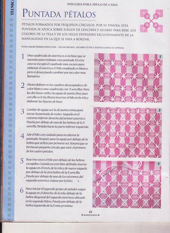 BORDADO ESPAÑOL (pág. 9) | Aprender manualidades es facilisimo.com