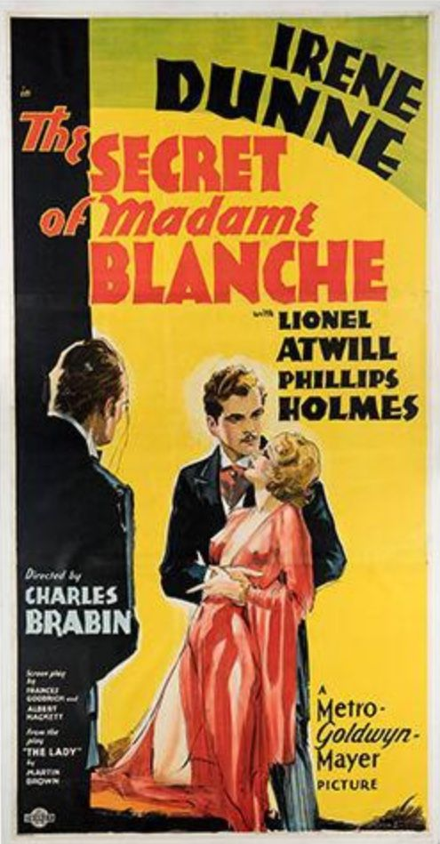 The secret of Madame Blanche Irene Dunne movie poster