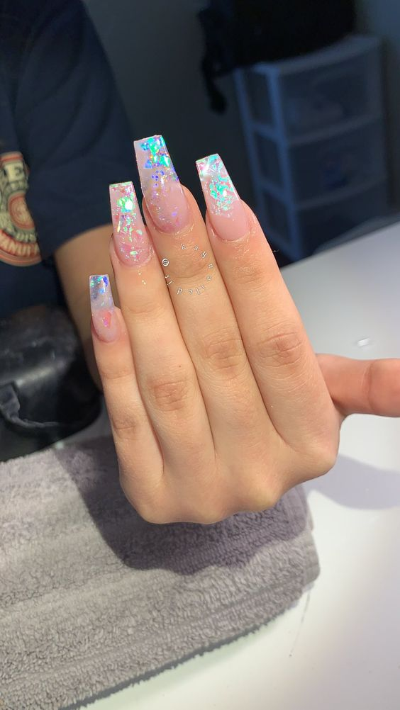 Beautiful Chic transparent Nail Art Designs ,clear nail art ,clear nails ,clear nail art design , nail ideas,Awesome transparent nail art design