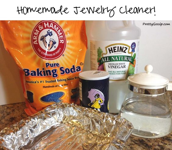 Homemade sodas and salts on pinterest for Baking soda silver polish jewelry