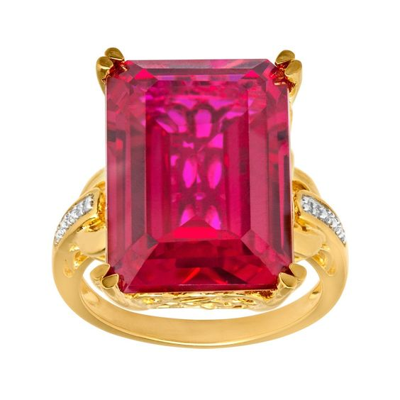 21 ct Ruby Ring with Diamonds