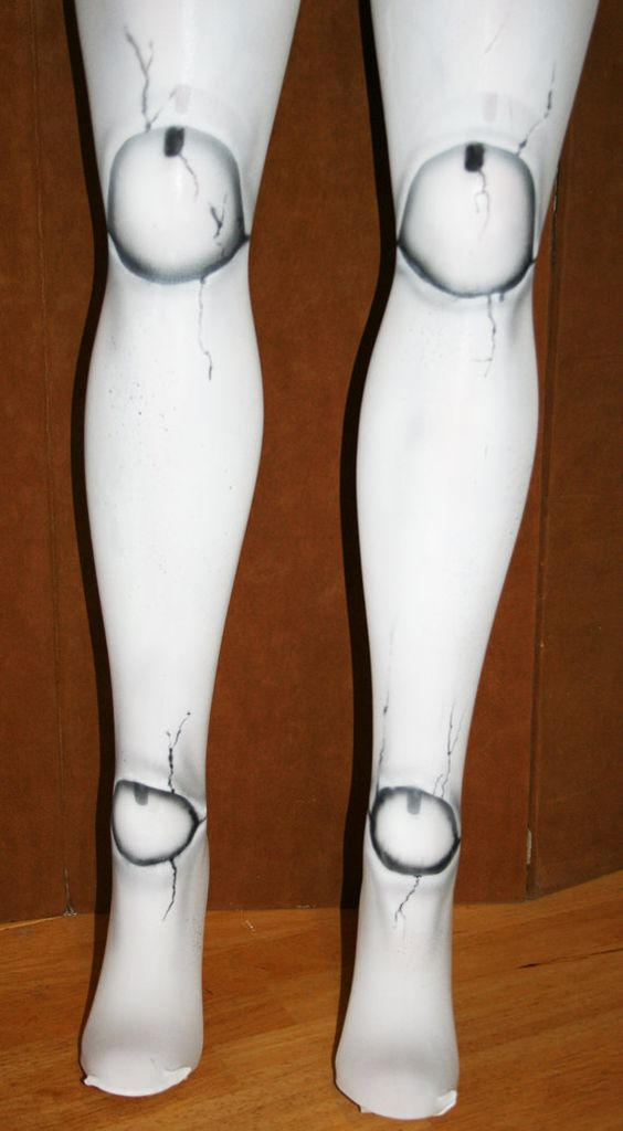 ball joint tights. reserved for rosanna- broken doll ball joint tights custom made you | halloween makeup pinterest dolls, costumes and a