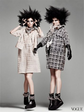 "US Vogue March 2011  ""Punk'D""  Models: Freja Beha Erichsen, Arizona Muse & Raquel Zimmermann  Photographer: David Sims  Stylist: Grace Coodington"