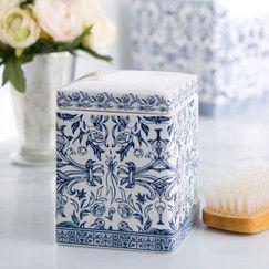 Porcelain Cotton Jar, Blue & White