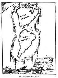 Monroe Doctrine Chain Bulletin Board Pinterest American - Map of the us during monroe doctrine