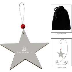 Silver Star Ornament #holidaygift http://promediaus.espwebsite.com/