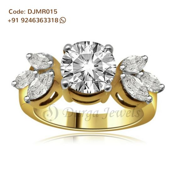 Give a royal touch and make heads turn in this verdant #Flower #Petal #Moissanite #Ring.  Code: DJMR015, Enquiry now @ http://bit.ly/2ciQ0Q0 For Details Call Us on +91 92463 63318 , #Durgajewels , Basheerbagh or contact us @ http://www.durgajewels.com/contact-us