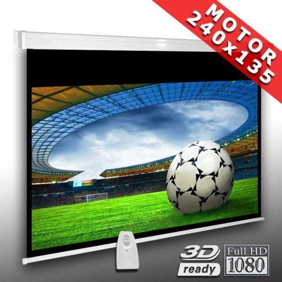 16:9 Écran videoprojecteur motorisé 240 x 135 cm - ecran de projection, avis et prix pas cher - Cadeaux de Noël Cdiscount