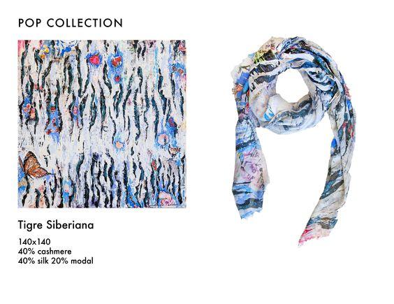 #fullart #siberian #popart #pop #scarf #scarves #moda #arte #milano #milan #ludmillaradchenko #design #Foulard #cashmere #fashion #tigre #siberiana